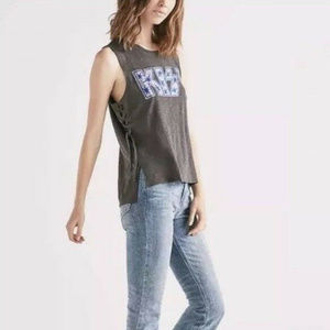 Lucky Brand Women's Kiss Side Lace up Tank Size M